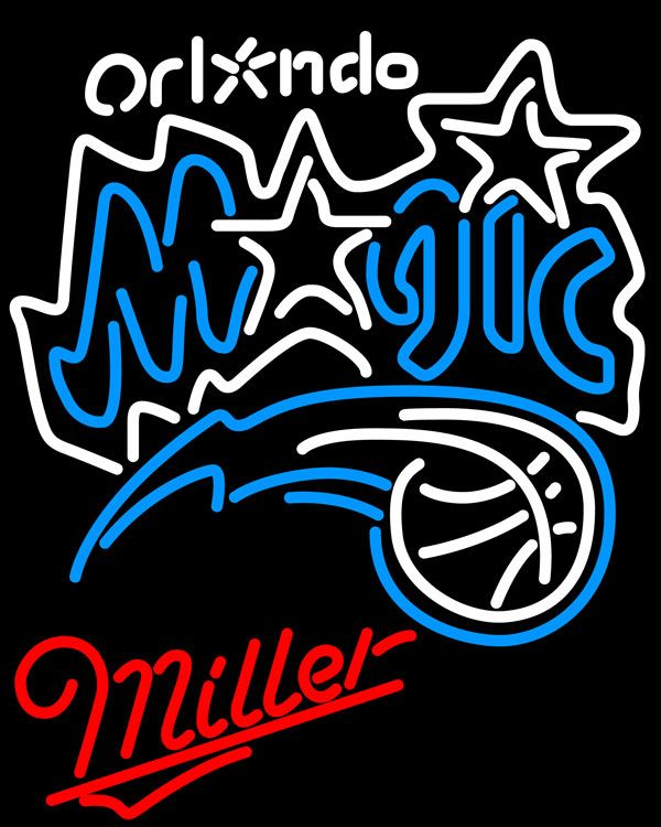 Miller Orlando Magic NBA Neon Sign, Miller with NBA Neon Signs | Beer with Sports Signs. Makes a great gift. High impact, eye catching, real glass tube neon sign. In stock. Ships in 5 days or less. Brand New Indoor Neon Sign. Neon Tube thickness is 9MM. All Neon Signs have 1 year warranty and 0% breakage guarantee.