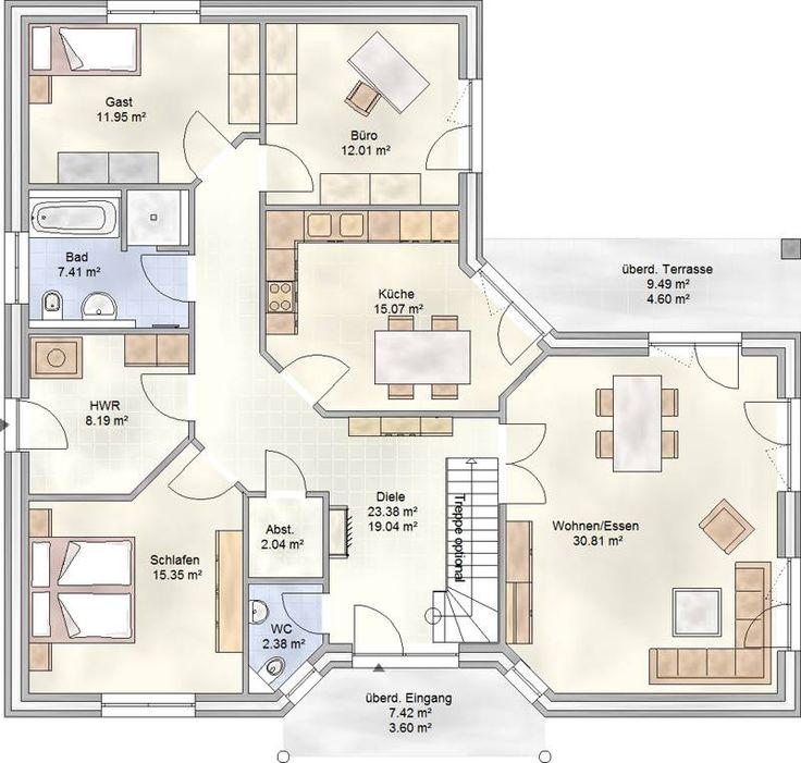 PLAN 133 – Winkelbungalow mit über 130 m² Wohnfl…