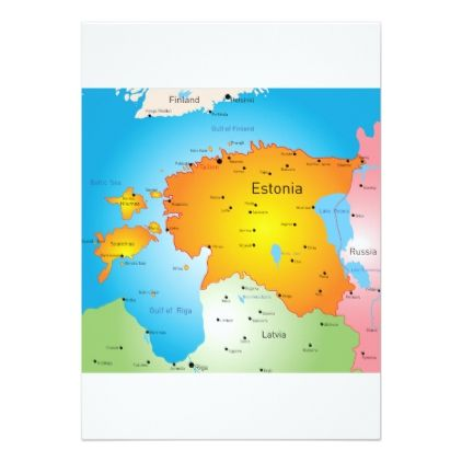 #Estonia Map Invitations - #country gifts style diy gift ideas