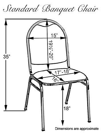 standard banquet chair dimensions - for later reference!  www.theseatingshoppe.com