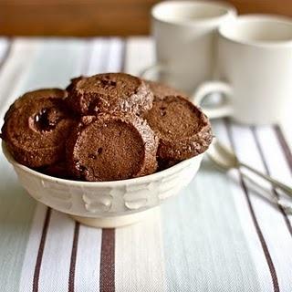sea salt and chocolate shortbread