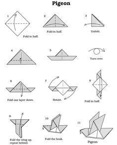 Origami Vögel für Mobile