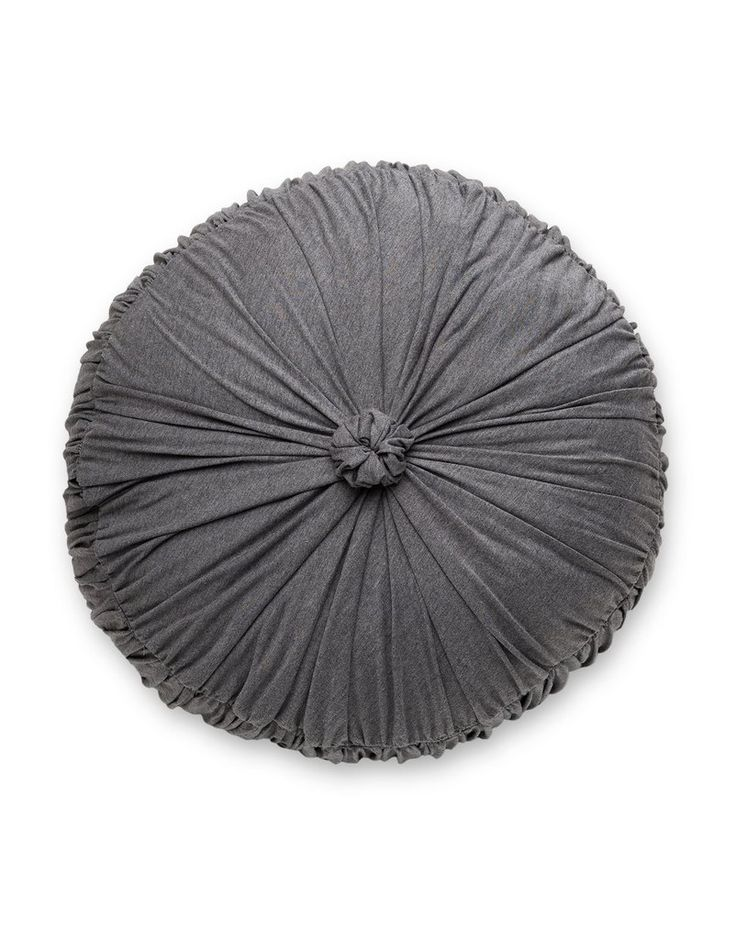 Rosette Round Cushion in Shadow