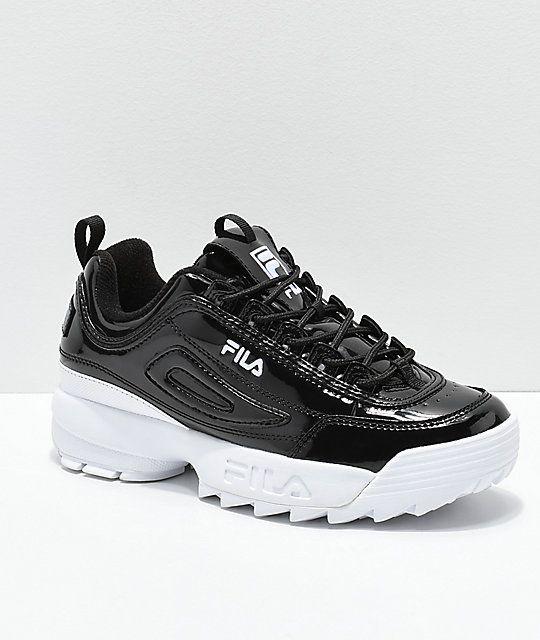 9d6124dd821ce FILA Disruptor II Premium Patent Leather Shoes in 2019