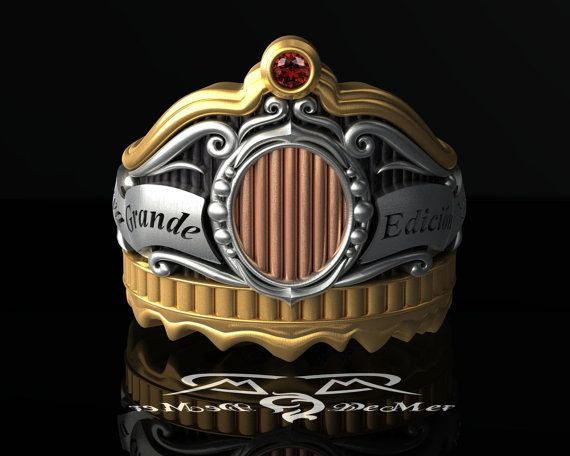 Cigar+Band+Initial+Ring.+14k+gold+sterling+silver+by+DeMerJewelry,+$3477.00 - reminds me of the unsinkable molly brown