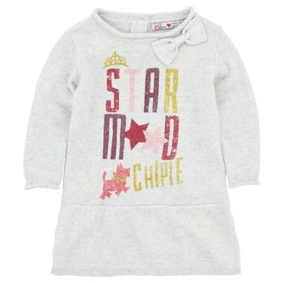 Chipie Mottled beige knit dress Beige - 47798 | Melijoe.com