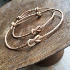 Natürliche Schlichtes Armband Paare Armbänder Leder von Fanfarria