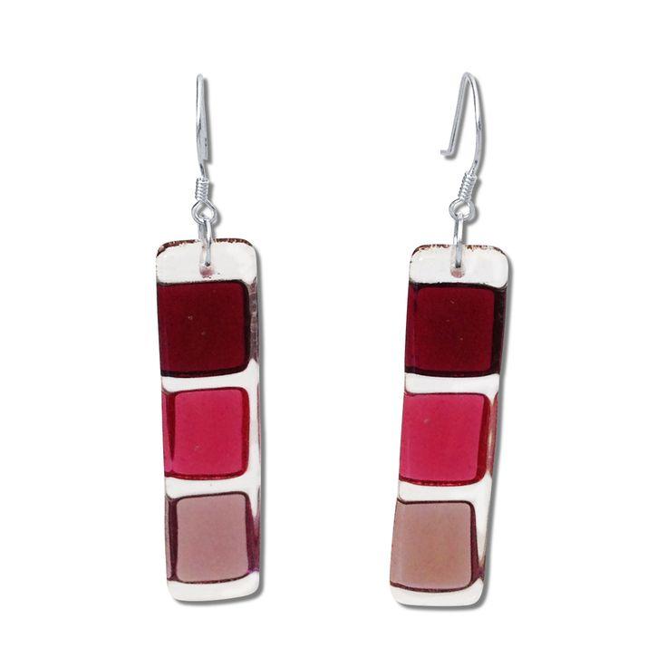 LMOL Glass Earrings - Black