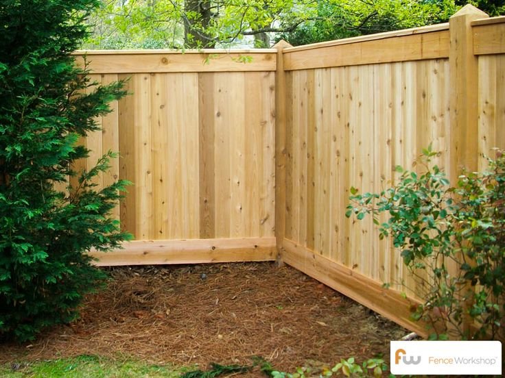 Cedar privacy fence for the yard.