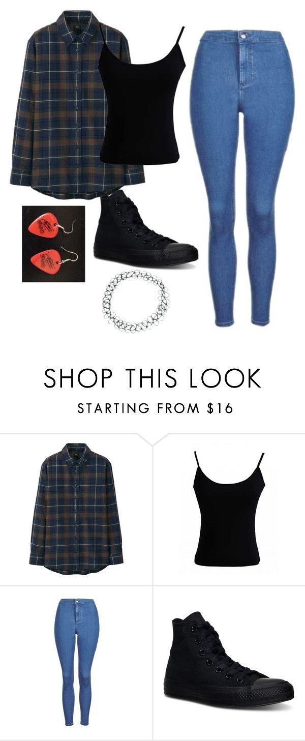 """""""Untitled #306"""" by spiritxxmagic ❤ liked on Polyvore featuring Uniqlo, Topshop, Converse and ASOS"""