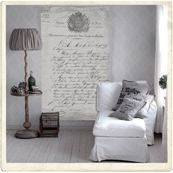 I want to turn a poem into a vintage-style wall hanging like that. awesome.