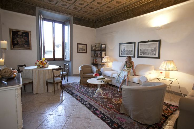 The living room in San Giovanni Apartment www.florencewithaview.com