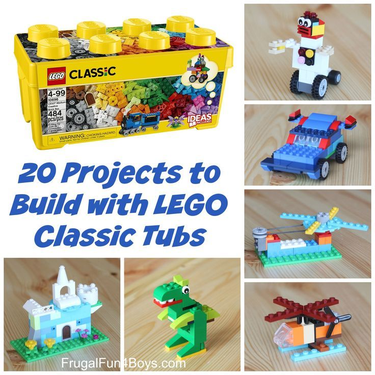 20 Projects to Build with LEGO Classic Tubs
