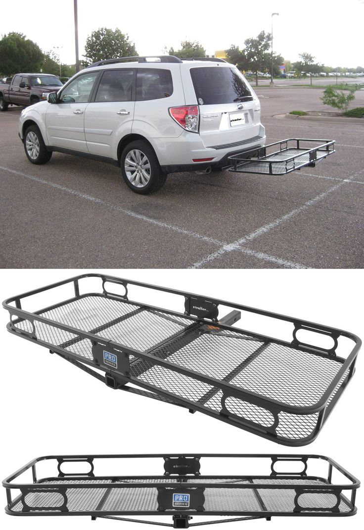 "Compatible with the Subaru Forester, the Pro Series Cargo Carrier for 2"" hitches is an awesome idea for freeing up space in the car on long road trips. Pack camping, hiking, and other accessories and gear safely and efficiently!"