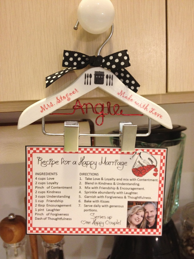 Recipe Hanger / Recipe Holder / Housewarming Gift / Wedding Gift- Hangs on Kitchen Cabinet Knob. $19.99, via Etsy.