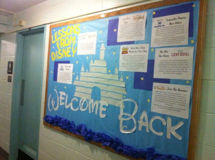 Welcome Back: Lessons From Disney  I'm 210% sure I will have this outside of my classroom at one point in my life.