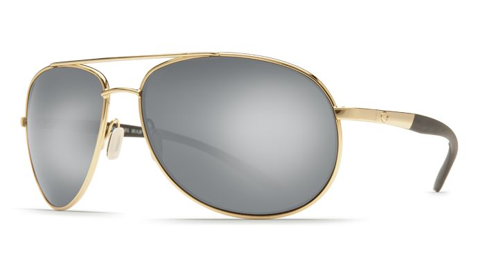 COSTA WINGMAN GOLD / Silver Mirror 580G GLASS POLARIZED SUNGLASSES WM26OSCGLP