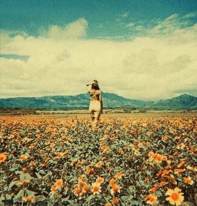 ...: Pulp Art, Flowers Children, Open Spaces, Fields Of Flowers, Flowers Girls, Fields Of Dreams, Flowerfield, Sunflowers Fields, Retro Vintage