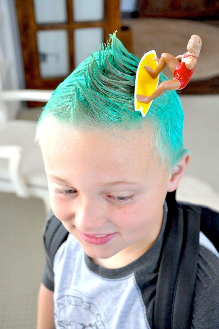 Crazy Hair Day Ideas Surfs Up Surfer Dude Red Ribbon Week Via Karas