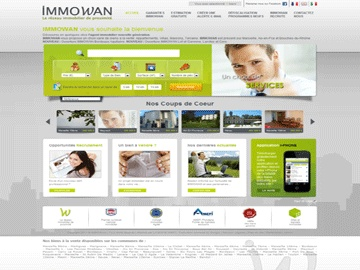 Site d'un réseau immobilier national de mandataires