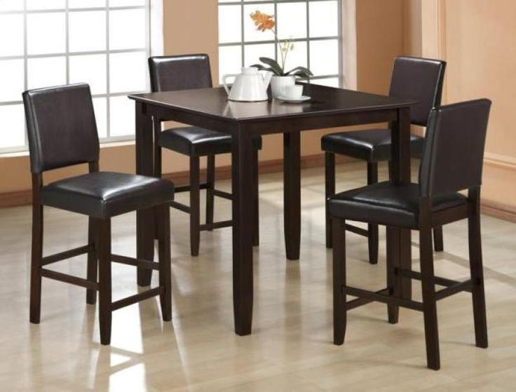 5 Pc Derick Counter Height Table And 4 Stools Set By Moshya Home  Furnishings New 28588 4 Used New From The Most Wished For In Dining Room  Furniture List For ...