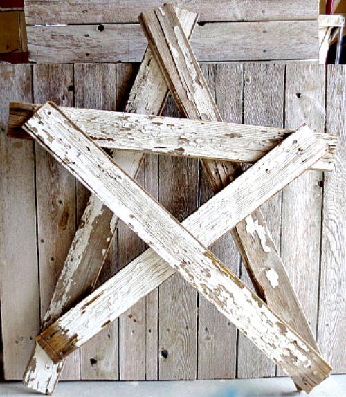 DIY Reclaimed Wood Star | Winter Decor