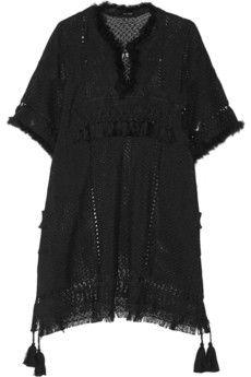 Isabel Marant Telima fringed open-knit mini dress | NET-A-PORTER