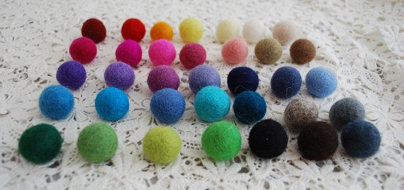 These could be used in so many ways for a DIY Wedding!  1.5cm / 15mm - 100 Pick and Mix 100% Wool Felt Balls / Beads - Felted Balls - 35 Colors to Choose on Etsy, $21.32