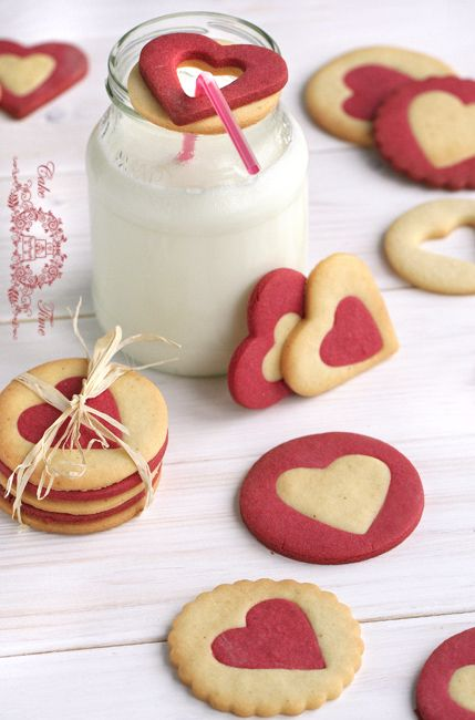 Valentine's Day cookies (recipe in Polish. English via Google Translate)