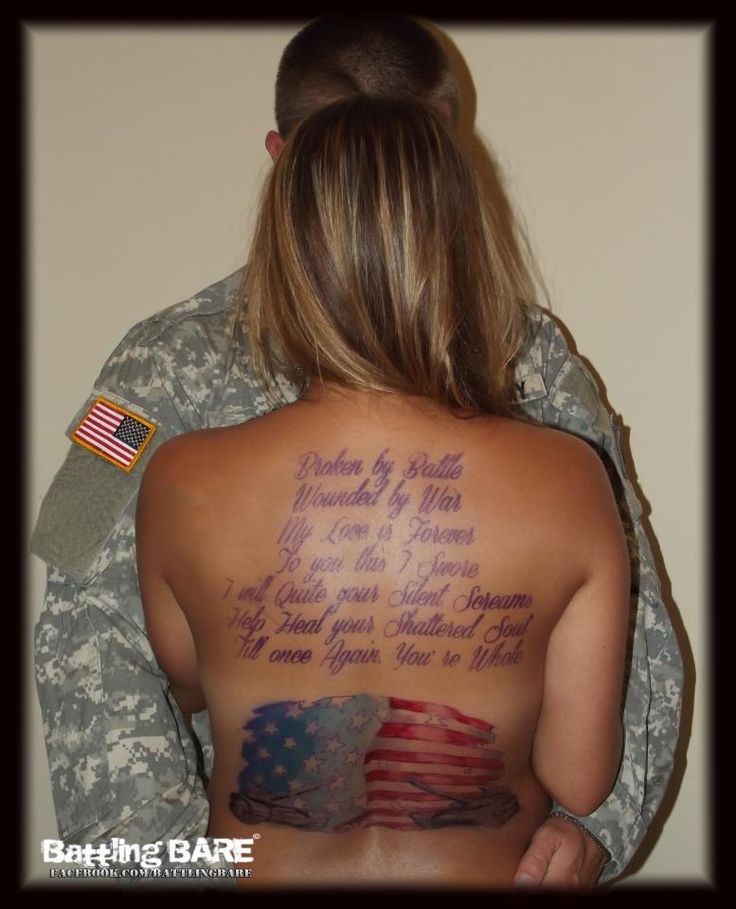 99 best military tattoos images on pinterest army for Topless tattoo girls