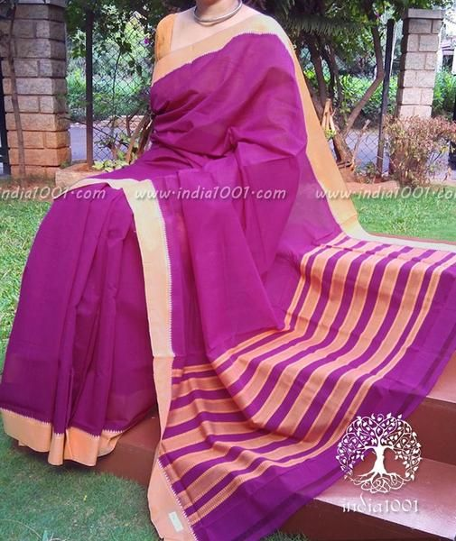 Fine & Elegant Mangalgiri Cotton Saree with Temple Border