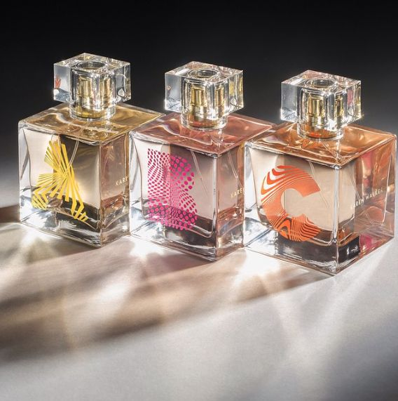 SAY HELLO TO THE WORLD OF KAREN WALKER EAU DE PARFUM! Developed with the oldest perfume house in the world, Charabot in Grasse, France, the first Karen Walker fragrances capture our signature optimism, energy and chic-meets-eccentric handwriting in a trio of scents; A, B and C.