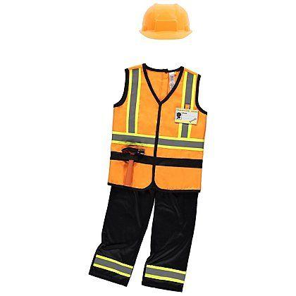Construction Worker Fancy Dress | Kids | George