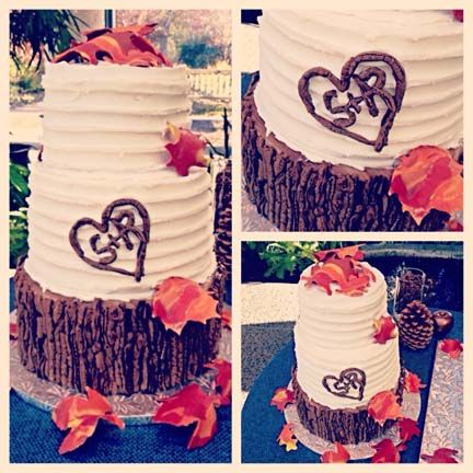 The bottom tier is all cake!  Wedding Cakes | Anniversary Cakes | Custom Cakes Northern VA