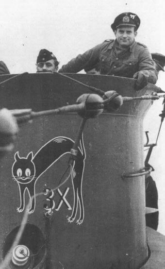 German submarine U-564 with black cat emblem