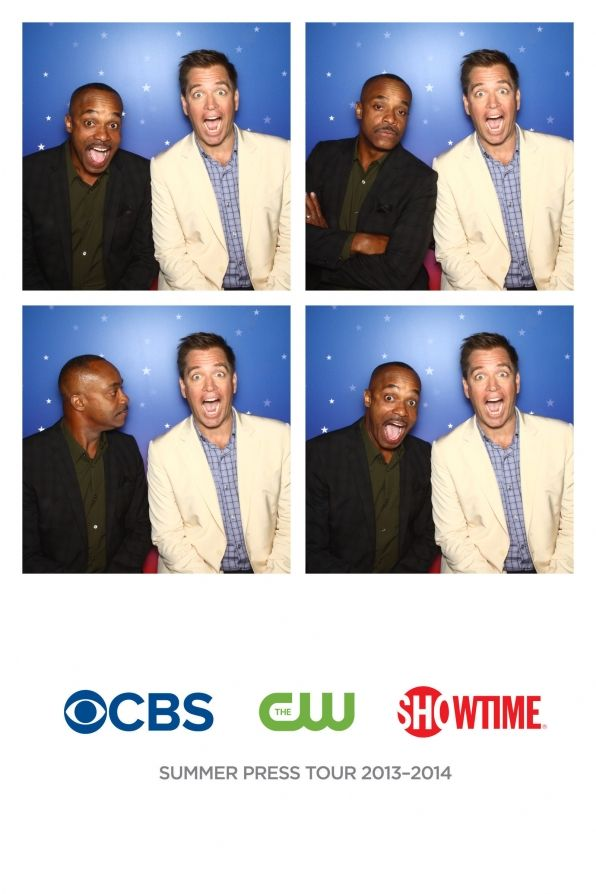 CBS Fall Preview 2013 Photos: Rocky Carroll & Michael Weatherly *LOL*