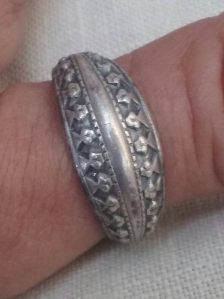 David Andersen Vintage Norwegian Sterling Silver Viking Saga Ring Mid Century Ring Unisex by RetroRoonniesRoom on Etsy