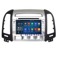 2015 Top Car Radio 7'' Pure Android 4.4.4 Car DVD Player for HYUNDAI SANTA FE 2006-2012 HD GPS Navigation Quad Core 16G Free Map