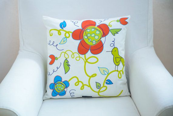 Scandinavian inspired pillow cover in white made by TroskoDesign
