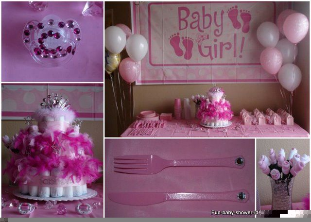 Baby girl decor for baby shower
