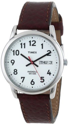 "Timex Men's T20041 ""Easy Reader"" Brown Leather Strap Watch Timex,http://www.amazon.com/dp/B000B55AEA/ref=cm_sw_r_pi_dp_JTFXsb04PTRH9699"