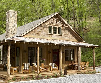 Sweet little cabin. That porch and oh buddy look at that freakin gable!