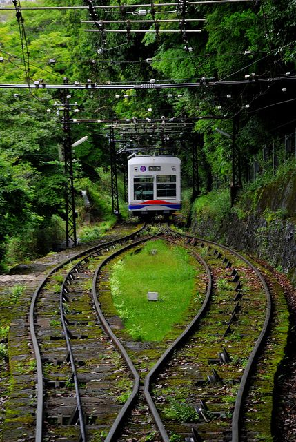 The cable car to Mount Hiei, Kyoto    Eizan Cable Car     See the latest #Art shows in     NYC on https://www.artexperiencenyc.com