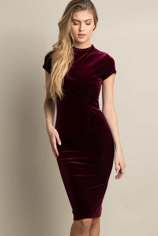 Pin by Griselda Bernardino on ᎰᎯᎦᏂiᏫᏁ | Velvet dress short ...