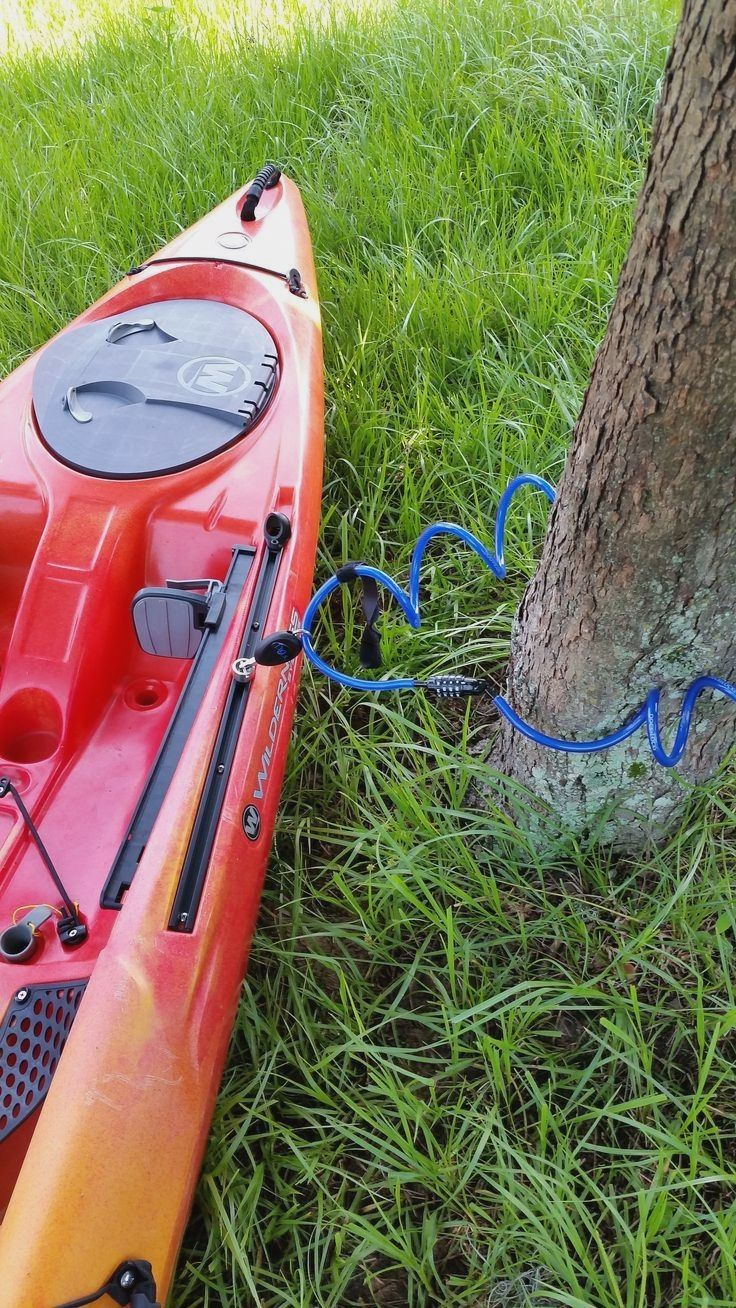 A Lock Can You Put On Your Kayak And Not Worry About It Getting Stolen A Lock Can You Put On Your Kayak And Not Worry Kayak Camping Kayak Accessories Kayaking