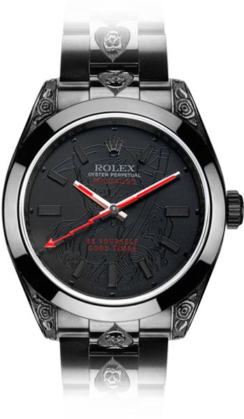 Rolex. If its out of your budget, save up. Nothing says wealth and power quite like it.