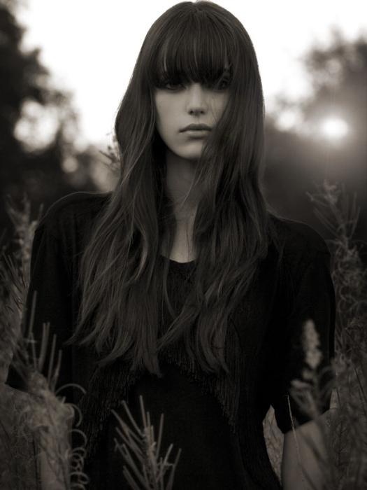 Stacy Martin #fringe #dark #brunette