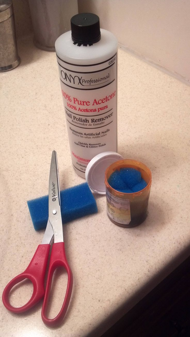 Make your own sponge nail polish  remover.  Cut up a dollar store sponge, stuff it into an old pill bottle and add your nail polish remover.  It works great on those hard to remove glitter polishes.