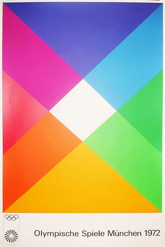One of Otl Aicher's posters for the 1972 Munich Olympics