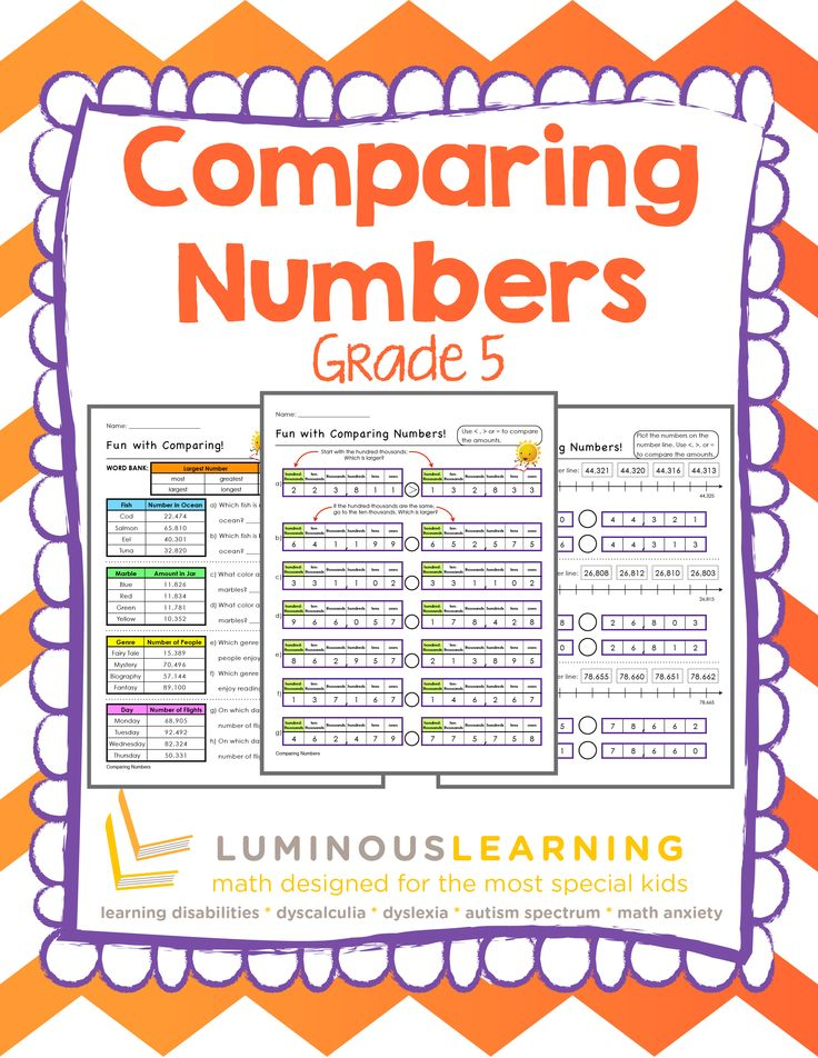 grade 5 comparing numbers printable workbook luminous learning math resources comparing. Black Bedroom Furniture Sets. Home Design Ideas